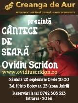 Cantece de Seara cu Ovidiu Scridon la Creanga de Aur