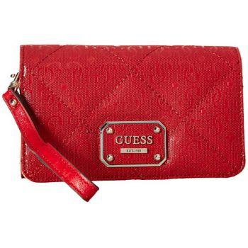 O geanta dama de mana Guess Ophelia Slg phone organizer / lipstick de culoare rosie