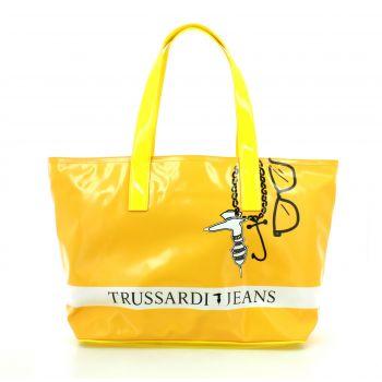 Geanta Trussardi de dama, culoare galben