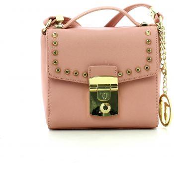 Geanta postas de dama marca Trussardi de dama, culoare roz somon