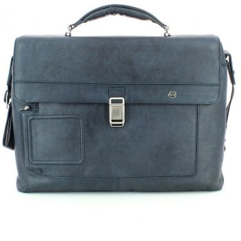 Geanta de laptop Piquadro albastra, pentru barbati