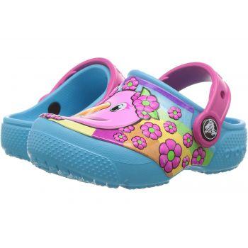 Saboti Crocs copii, model Famingo albastru electric pentru fete